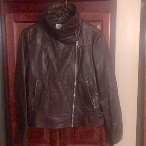 Brand new burgundy leather jacket!
